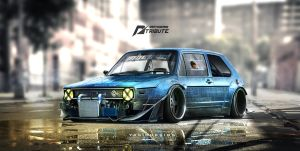 Speedhunters Golf MK1 - NFS Tribute  by yasiddesign
