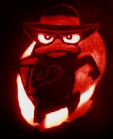 Agent P Carved by Stirk-Bostaurus