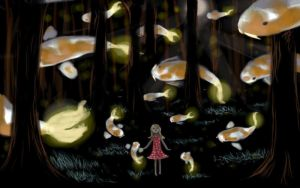 Firefly Koi by Noctualis