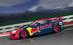 Red Bull Lexus LFA by BayuBaron