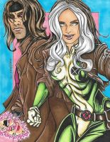 Rogue and Gambit *Finished* by SunsetRising-Art