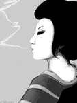 tegaki - exhale. by AutumnalEquilux