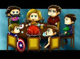 Avengers Dinner Time by TaraAkera