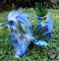 Tropical Dragon - OOAK Poseable art doll dragon by SonsationalCreations