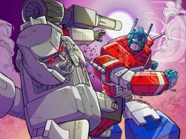 Optimus vs Megatron by marespro13