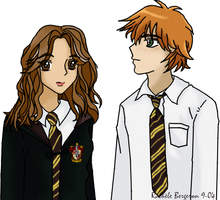 Ron and Hermione by radionewt