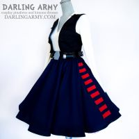 Han Solo Star Wars Tea Length Pinup Cosplay Skirt by DarlingArmy