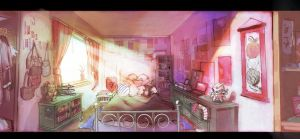 Anime Fangirl Room by hungerartist