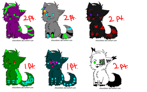 1-2 point adoptables OPEN by SpotEy-Meister