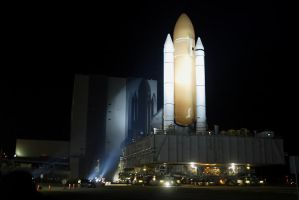 STS-134 Rollout operations by OpticaLLightspeed