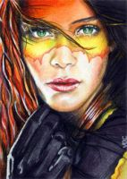 Firestar Sketch Card 1 by veripwolf