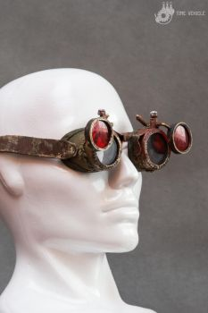 Postapocalyptic Goggles With Double Lenses by Tharrk