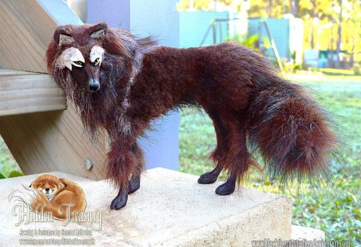 Poseable Brown Wolf by Blackthorn-Studios