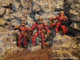 3D printed bad guys alien action figures by hauke3000