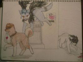 deathnote doggies by anime-animal