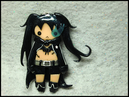Black Rock Shooter Charm II by GrandmaThunderpants