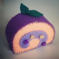 Grape Flavored Swiss Roll by CraftersBoutique