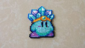 Ice Kirby - Perler Bead Sprite by MaddogsCreations