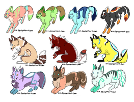 Sparkle Adoptables Sheet OPEN by XBubble-Adopts