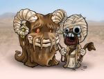Baby Bantha and Tusken Raider by JTampa