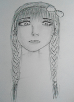 My drawing of a girl by GreenMich