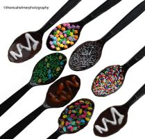 Fancy Candied Spoons by theresahelmer