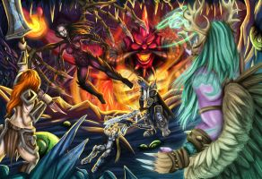 Heroes of the Storm: Battle of Chaos by AngoraART