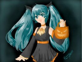 Trick or Treat- MIKU by hOlowave