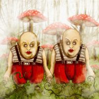 TWEEDLEDEE AND TWEEDLEDUM by zurrak