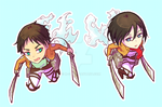 Shingeki no Kyojin Stickers by M-GO