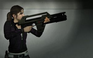 L4D - Zoey's NEW Weapon by tankhawk500