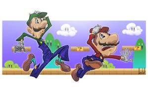 Super Plumber Brothers by sir-wesley666