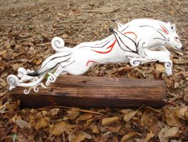 Final Okami Sculpture 2 by Clinkorz