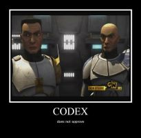 CODEX DOES NOT APPROVE by JediRorschach