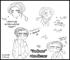 Jim Hawkins Weird Sketches by FullmetalSparkle
