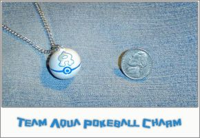 Pokemon - Aqua Pokeball Charm by YellerCrakka