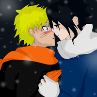 snow kiss sasunaruEDIT by ahiru-in-wonderland0