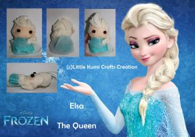 Elsa Chibi Plush FROZEN by lkcrafts