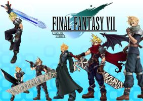 The evolution of Cloud Strife by julz1992