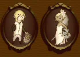 Link and Tetra: Portraits by BeagleTsuin