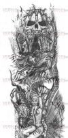 Tattoo Design Right Arm by VerminGTi