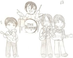 The Beatles Chibified 8D by KoharaChan
