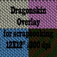 Dragon scales scrapbook paper overlay by tash11