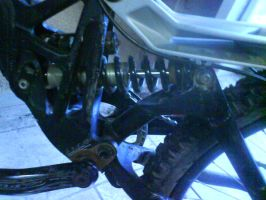 demo's rear shock absorber by BadgeRizzle