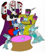 Sharkticon Bathtime by PurrV