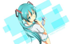 Miku Hatsune with cookies by adekrifki