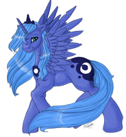Princess Luna by SilverMoonbreeze