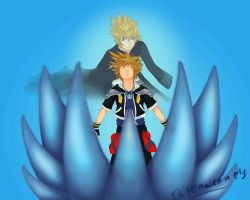 Sora and Roxas by ThisEmuCanFly
