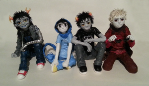 Homestuck Sculptures by Mrkaalerabistappe