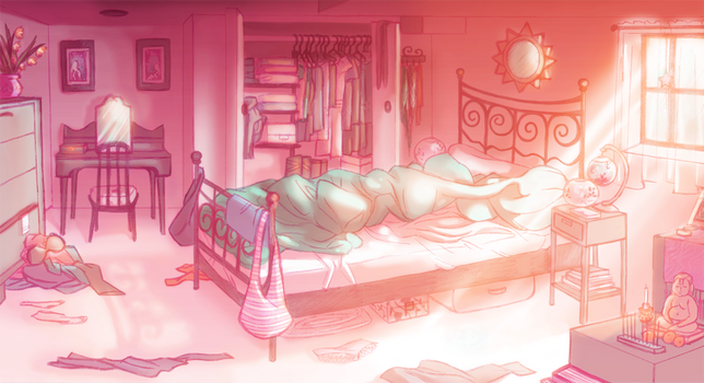 Pink Bedroom Layout by peach-mork